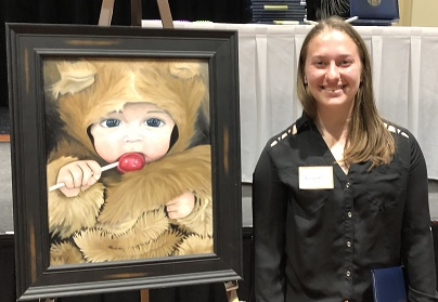 Laurel Black's artwork received 2nd place in the 2018 art competition