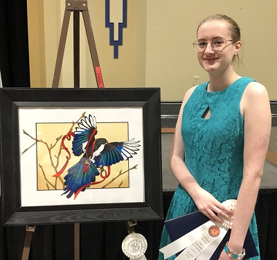 4th place in 2018 Art Competition Rachel Simcic