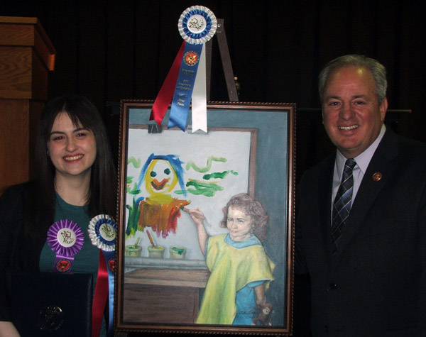 photo of Congressman Doyle with 2013 Congressional Art Competition winner Stephanie Taylor from South Allegheny High School