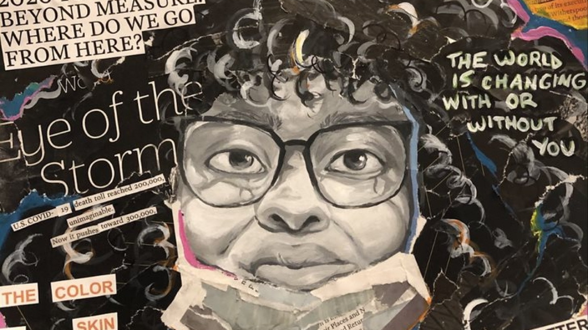 """photo of winning artwork in 2021 Congressional Art Competition - """"Portrait of Truths"""""""
