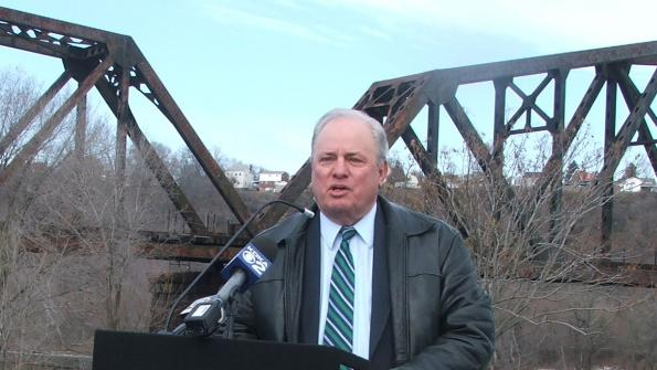 Congressman Doyle speaks at January 28 event announcing grants for parks and trail in Homewood