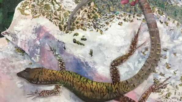 "Acrylic painting entitled ""Lizard"" by Jonah Grove from Pittsburgh CAPA"