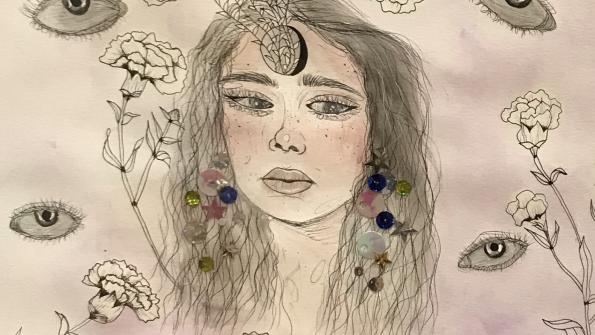 """Art Competition entrant """"Growng Pains"""" by Angelina Kukic from Westinghouse Arts Academy."""