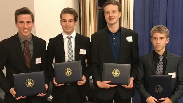 Students from Montour High School who were the runners-up in Congressman Doyle's 2017 Congressional App Challenge